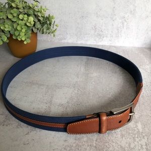 Levi Dockers navy and brown leather belt.  36